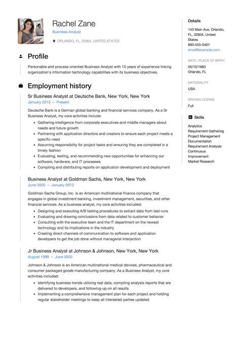 100 sample analyst resume business analyst sample resume