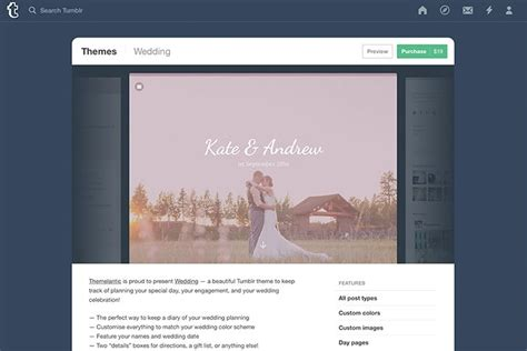 tumblr themes that you can install how to make a budget wedding website with tumblr design