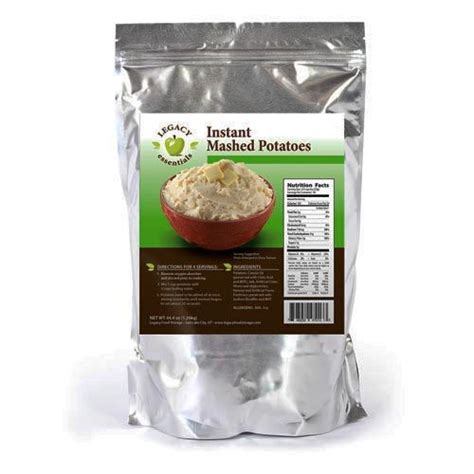 Mashed Potatoes Shelf by Instant Mashed Potatoes Total Prepare Inc