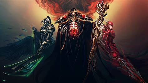 wallpaper hd anime overlord wallpaper illustration overlord anime effects