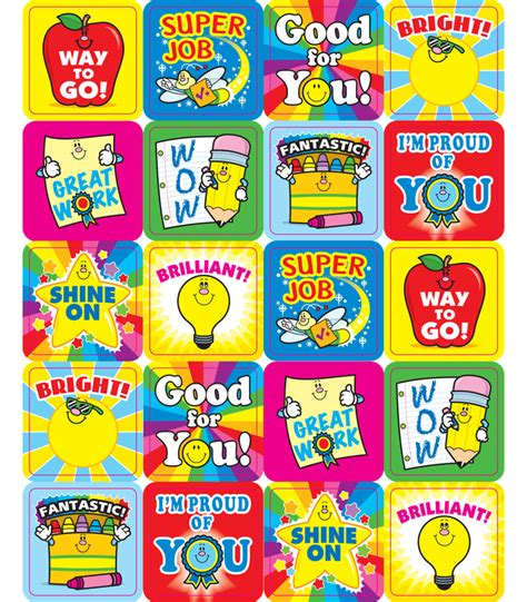 printable encouragement stickers winning words motivational stickers grade pk 5