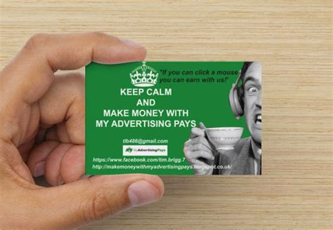 make money card make money with my advertising pays make money with