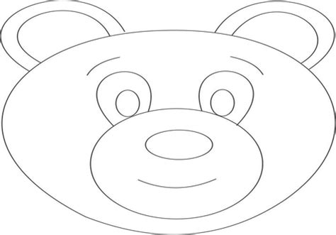 bear mask coloring page bears face coloring polar bear page grig3 org