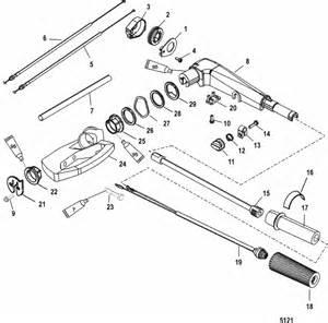 mercury marine 20 hp 2 cylinder tiller handle assembly parts