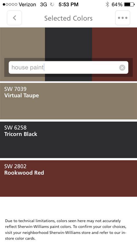 house taupe trim white shutters tricorn black