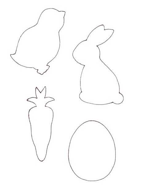 Free Printable Easter Templates enchanting easter garlands
