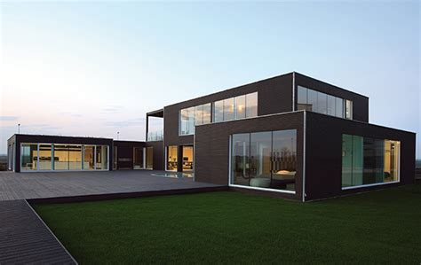 modern prefabricated home showcases high end furniture
