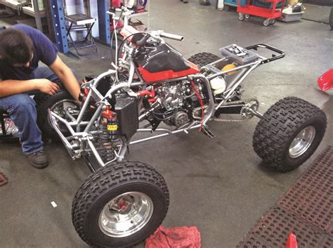 atv frame design download project atv honda ct racing 350r dirt wheels magazine