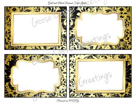 printable gold label diy printable food labels black and by goosecornergreetings