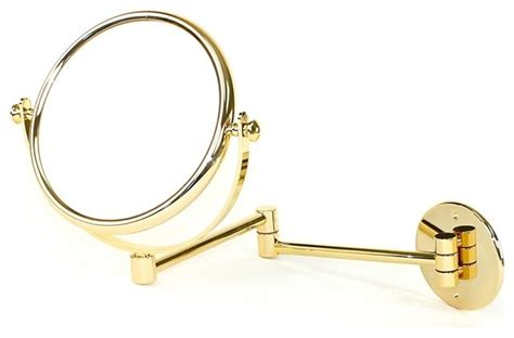 extendable magnifying bathroom mirror wall mounted extendable double face gold 5x magnifying