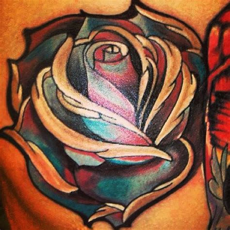 blue and red rose tattoo best tats pictures ideas
