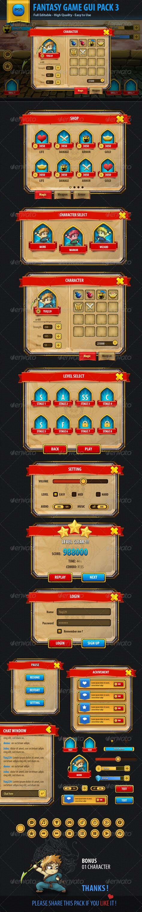 game layout psd game ui design psd www imgkid com the image kid has it