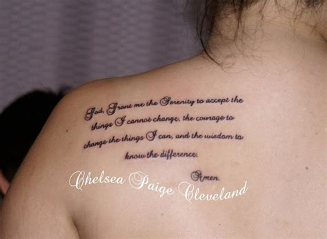 serenity prayer tattoo small serenity prayer by chelsea cleveland by smilinpiratetattoo