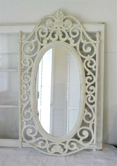 vintage shabby chic home decor shabby chic antique white ornate wall mirror ornate wood