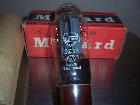 Mullard Gz34 F32 Series mullard gz34 5ar4 nos f32 7 notch version