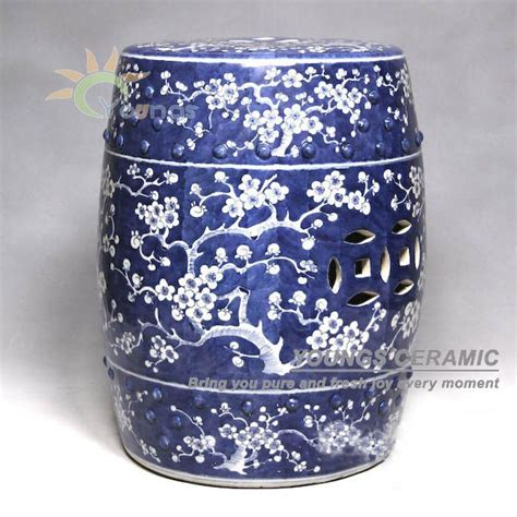 Antique Blue And White Ceramic Porcelain Garden Table And Stool With Design Buy Antique Painted Plum Blossom Blue And White
