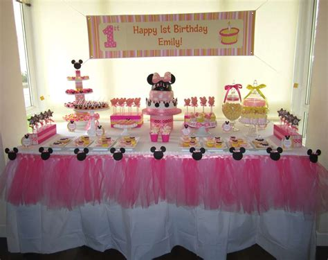 decoration for baby girl birthday decorating party and baby minnie mouse 1st birthday decorations margusriga baby