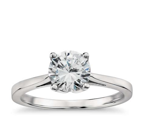Monique Lhuillier Cathedral Solitaire Engagement Ring in