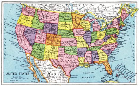 map of united stated map of united states 1949 rage monthly magazine