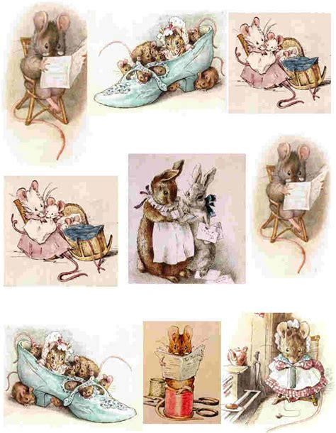 Beatrix Potter Decoupage - decoupage paper and collage sheets original tissue