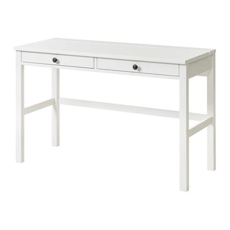 white desk drawers hemnes desk with 2 drawers white stain ikea