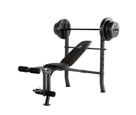 marcy weight bench accessories marcy standard bench with 100 lb weight set home gym