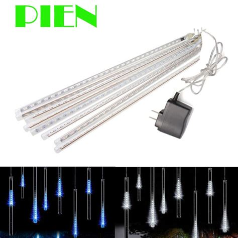 4m white led snowfall icicle lights 50cm drop garland 8 led meteor shower string light 50cm 30cm icicle snowfall raindrop