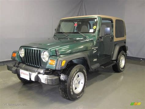 Forest Green Jeep 2000 Forest Green Pearl Jeep Wrangler Sport 4x4 25062927