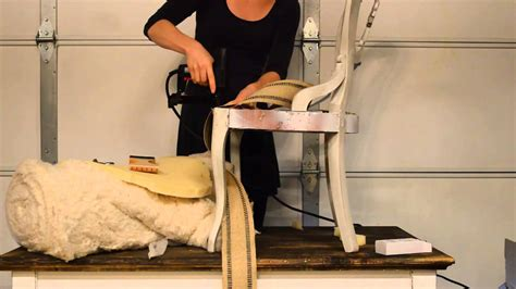 reupholster chair seat webbing how to apply jute webbing upholstery tutorial