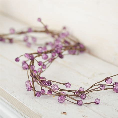 purple beaded garland purple acrylic beaded twig garland garlands floral supplies craft supplies