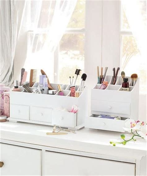 Vanity Makeup Organizer by New Wooden Vanity Cosmetic Makeup Storage Organizer