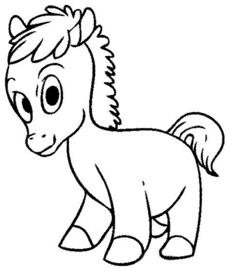 gambar kuda poni kartun hitam putih ala model