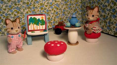 critter room shades of tangerine calico critter play room