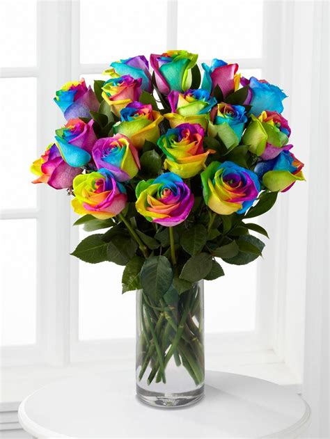 9 Prettiest Flower Bouquets From Missyflowers by Rainbow Roses Vase Interflora Blooming Lovely