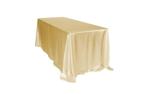 90 x 132 tablecloth fits what size table 90 x 132 inch chagne satin rectangle tablecloths for