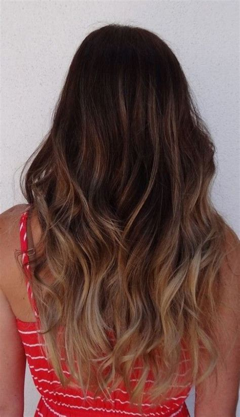 hair brown in back and bottom and blonde in front back view of long ombre hair hairstyles weekly
