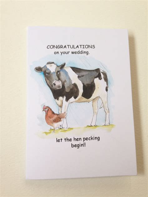 Witzige Hochzeitskarten by Wedding Card Farm Yard Theme Wedding Card
