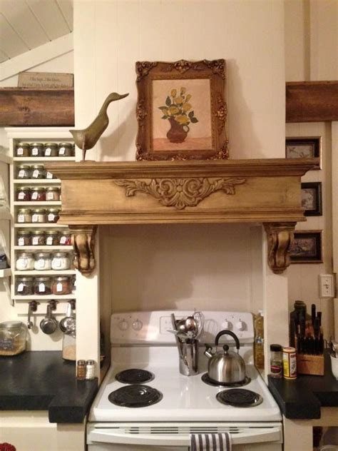 Stove Mantle Mantle Kitchen Stove My Home Remodel Pics