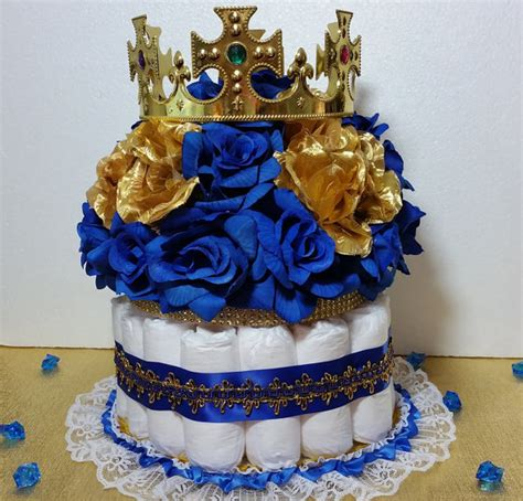 cake centerpieces for a baby shower cake centerpiece with crown for royal prince baby