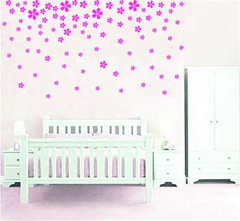 wall flower stickers pink flower wall sticker decals mojosavings