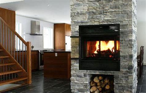 see through wood burning fireplace valcourt see through woodburning fireplace