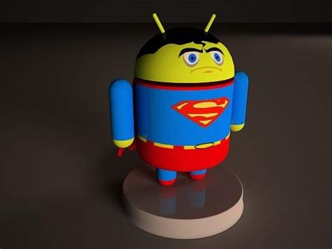 android model superman android model cgtrader