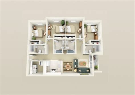 small compact homes page 4 4 bedroom apartment house plans