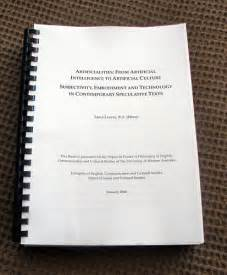 Doctoral Dissertation by Ponderance January 2006