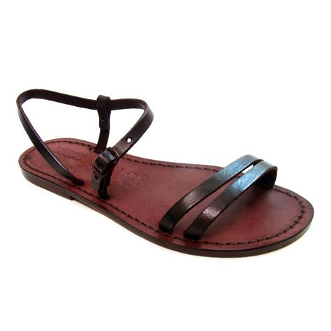 Italian Handmade Flats - handmade brown flat sandals for in real greased