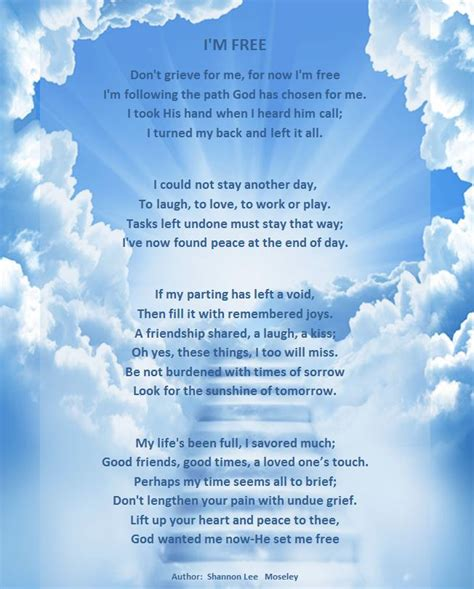 memory poem template best photos of funeral memorial poems i m free poem