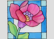 Fannie Narte: Stained Glass Flower on Silk Using Neocolor II Easy Flower Designs For Glass Painting