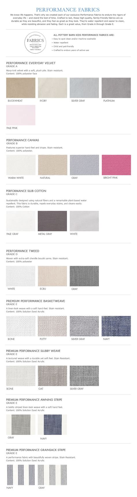Pottery Barn Track My Order Performance Fabric Guide Pottery Barn Kids