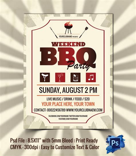 free bbq flyer template sle invitation template premium and free documents in pdf psd