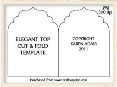 Fancy Card Shape Template by Fancy Shaped Cut Fold Card Template Cup328982 168